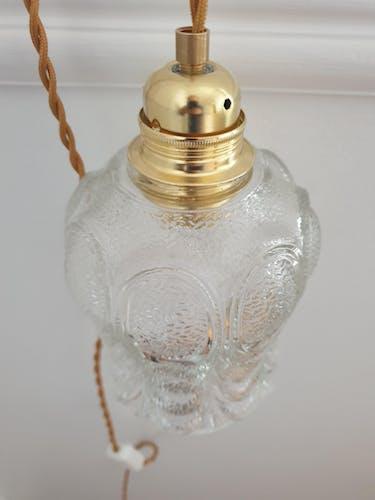 Baladeuse en verre ciselé vintage