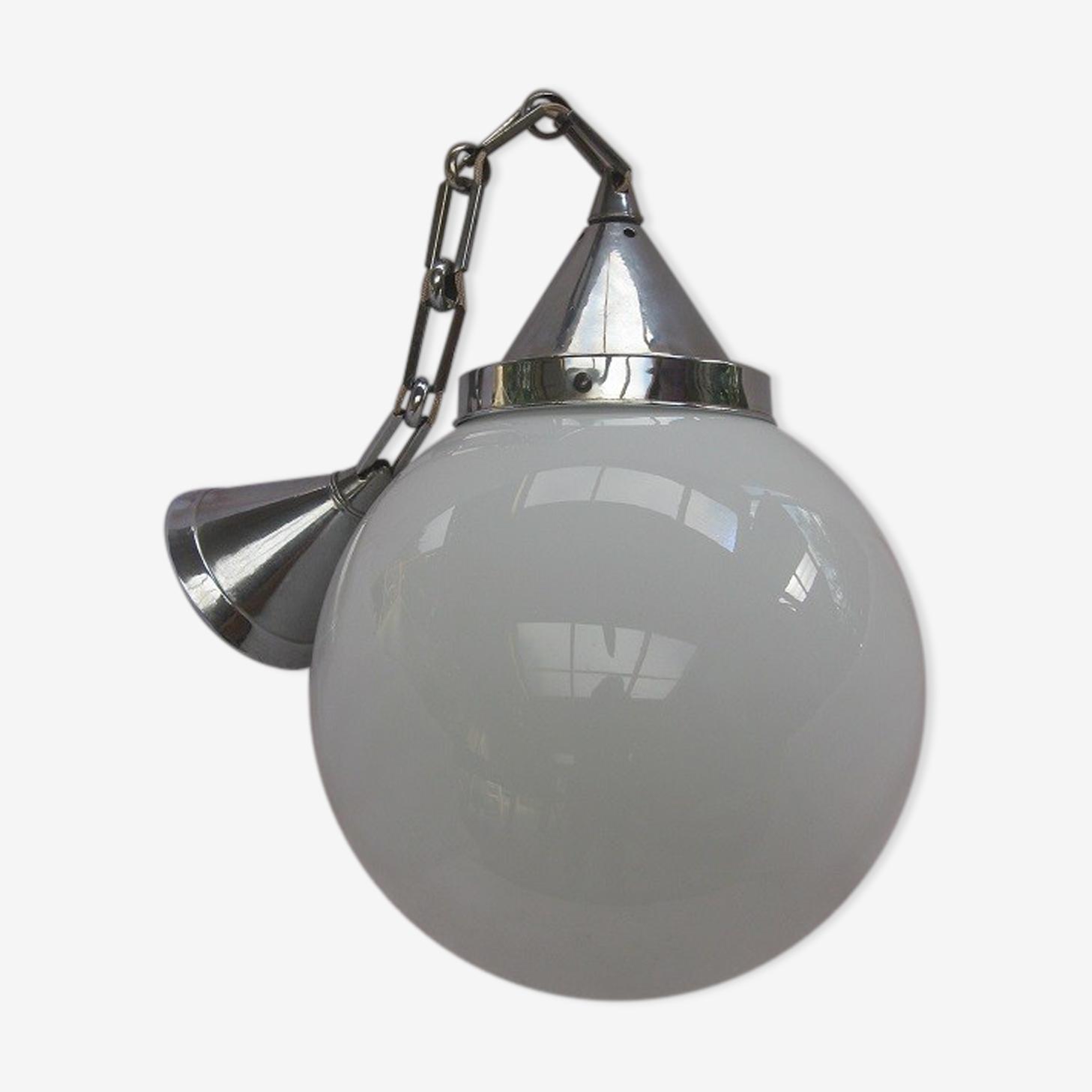 Suspension globe opaline