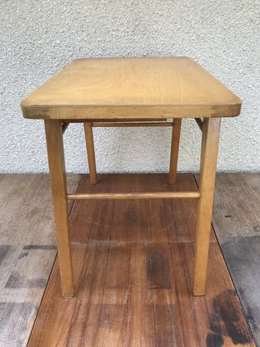 Child desk in wood