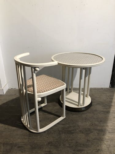 Table et chaise de Josef Hoffmann