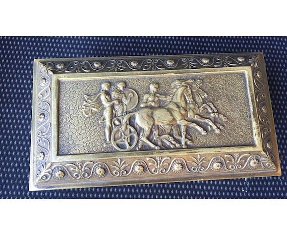 Coffret en bronze décor antique gladiateur boîte poinçon