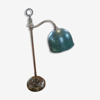 lampe de bureau mg wheeler en acier et laiton 1950 laiton marron classique yeipozr. Black Bedroom Furniture Sets. Home Design Ideas