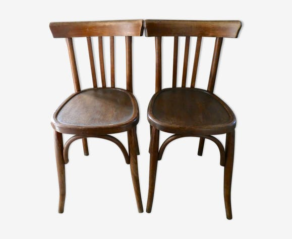 Pair of bistro mahieu bentwood chairs