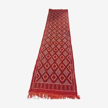 Tapis margoum multicolore fait à la main en laine 80x320cm