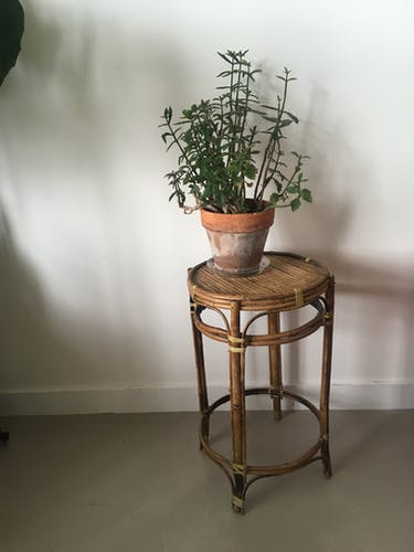 Guéridon en bambou vintage