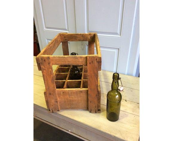 Vintage wooden crate brewery Beer Prior Alsace -Strasbourg, Koenigshoffen
