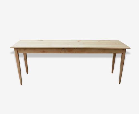grande table longue et étroite - bois (matériau) - marron - vintage