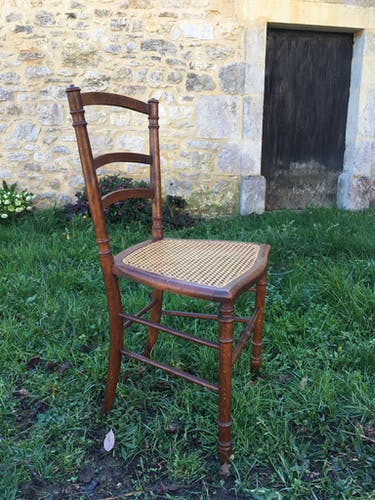 Chaise cannée Napoleon III