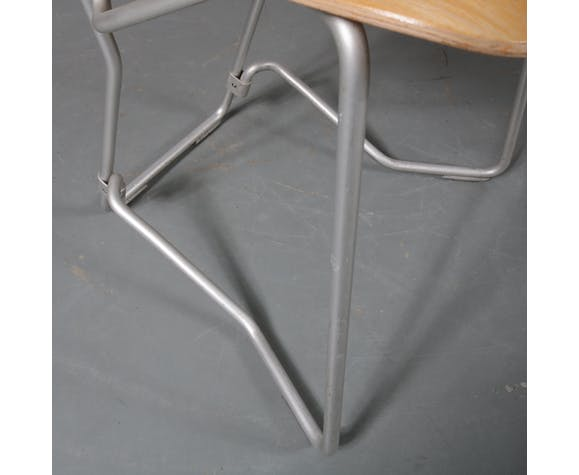 "1950s Early ""Aluflex"" Chair, designed by Armin Wirth, manufactured by hans Zollinger Sohre in Switzerland"