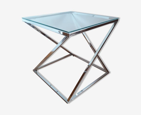 table basse d 39 appoint design m tal argent couleur design lot0fpw. Black Bedroom Furniture Sets. Home Design Ideas