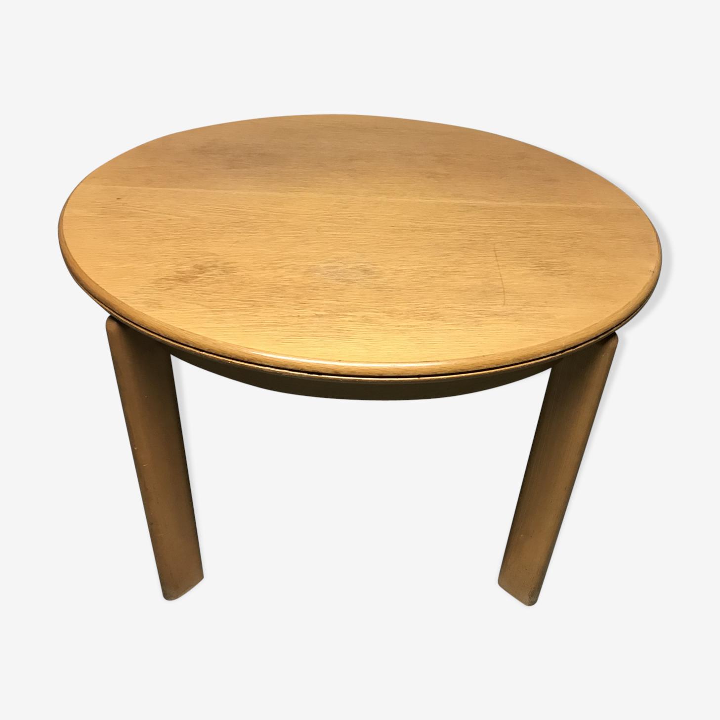 Table ronde chêne avec rallonge