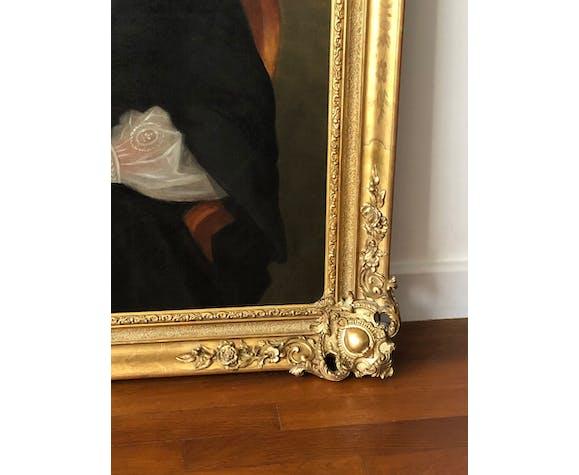 Portrait - Encadrement Louis XV