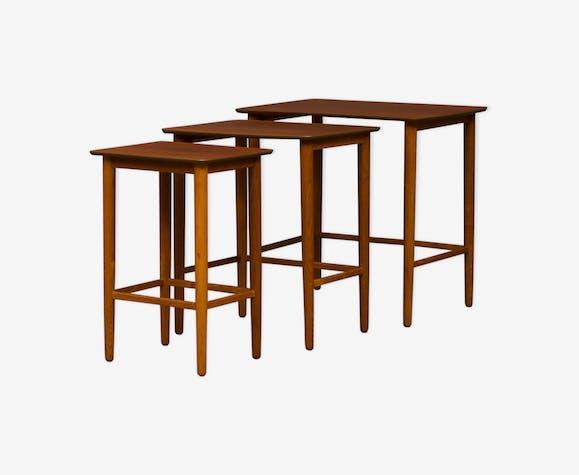 Teak nesting tables from 70s, Denmark