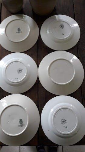 Lot de 6 assiettes dépareillées