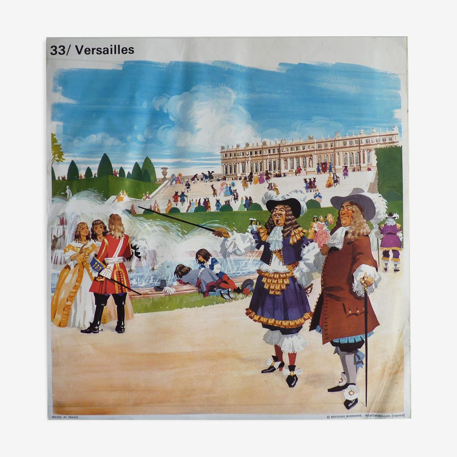 School poster: Versailles