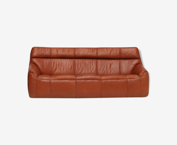 Canapé en cuir Rolf Benz des années 1970 | Selency