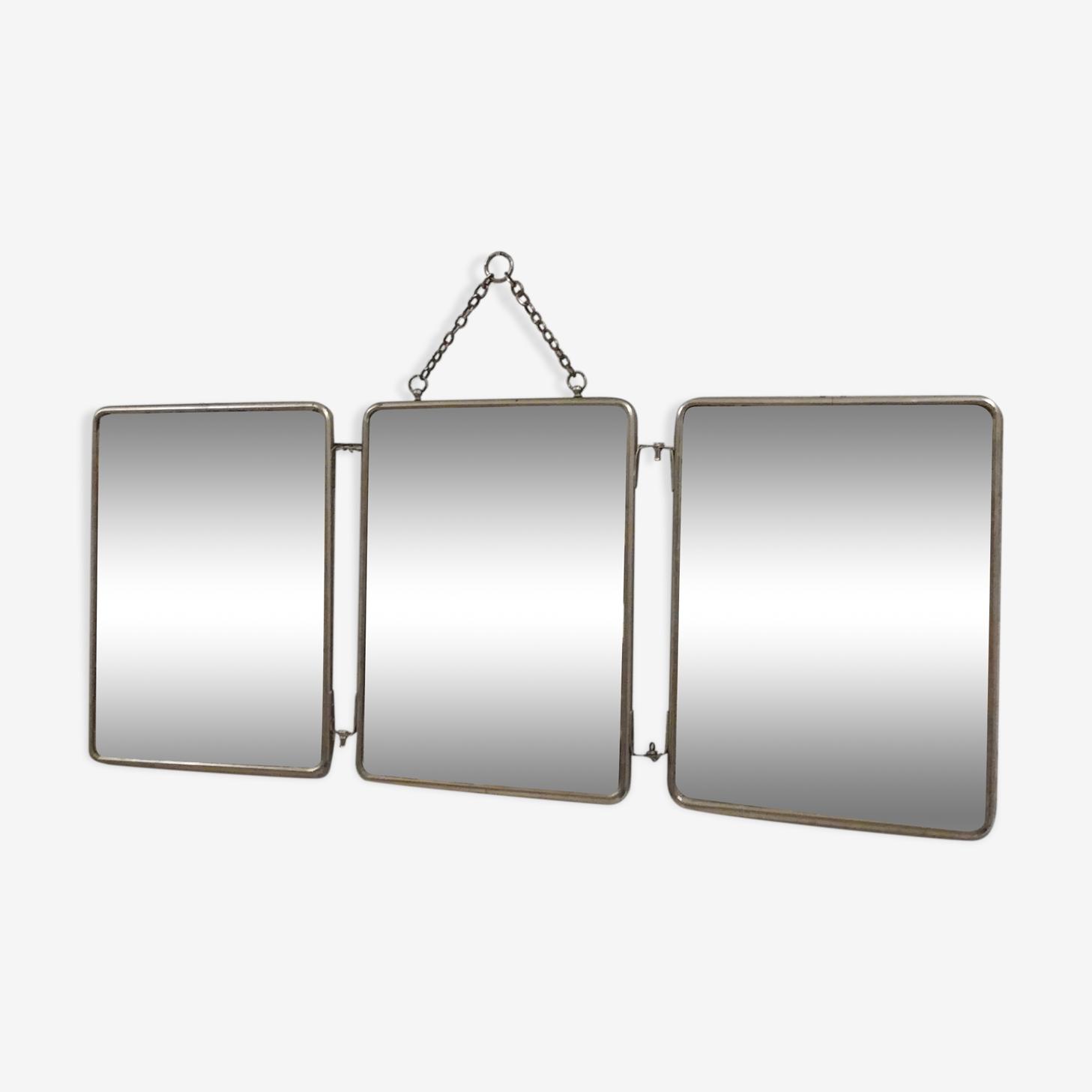 Miroir triptyque années 50 - 60x24cm