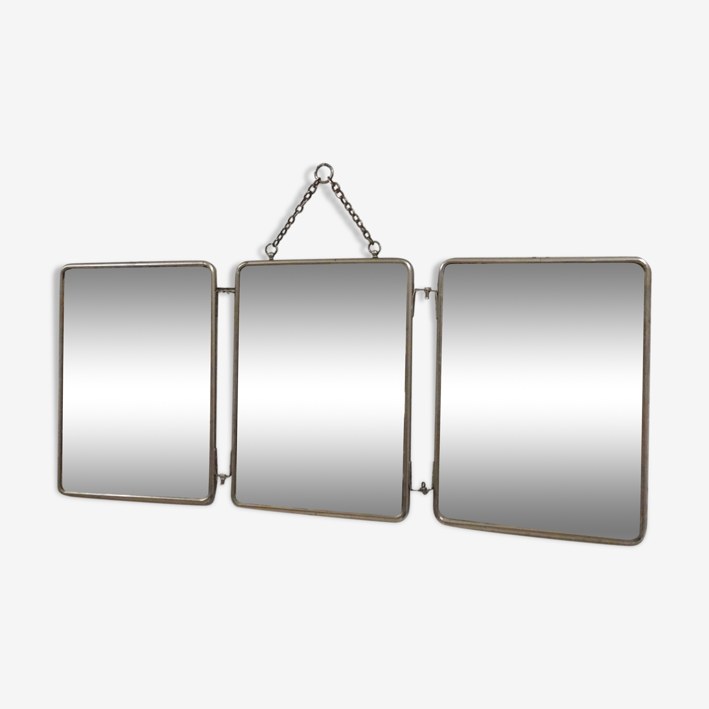 Triptych mirror from the 50's - 60x24cm