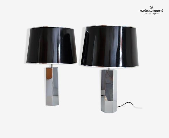 Lampes de table chromées par Ingo Maurer, années 1970