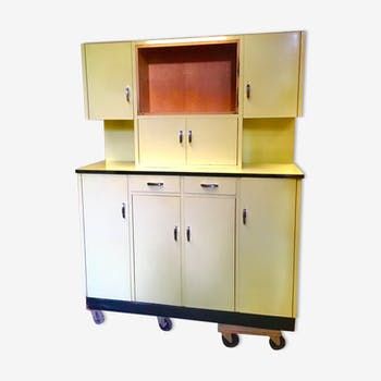 Buffet 2 bodies in vintage yellow formica