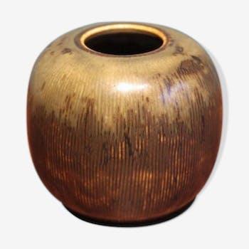 Vase par Valdemar Petersen pour Bing & Grondahl, 1960s