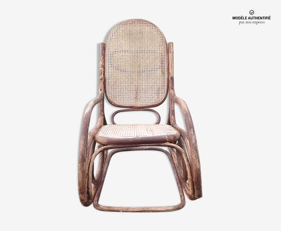 fauteuil rocking chair ann e 30 thonet bois mat riau. Black Bedroom Furniture Sets. Home Design Ideas