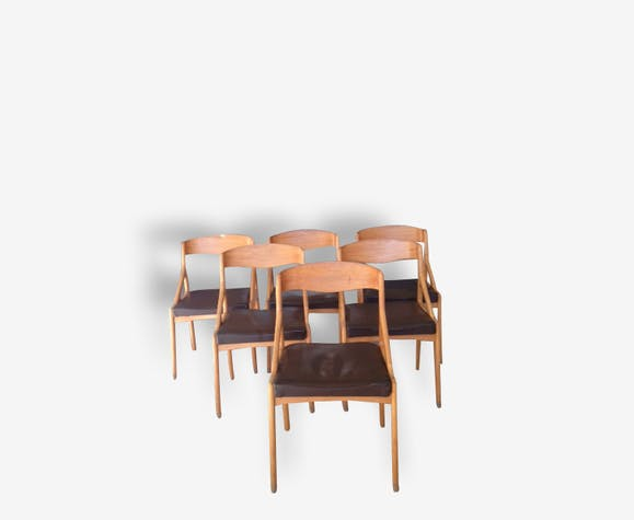 Ensemble de 6 chaises scandinaves