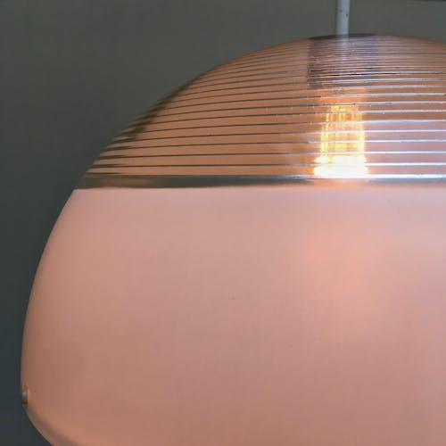 Suspension Holophane - lentille dite de Fresnel - circa 1970