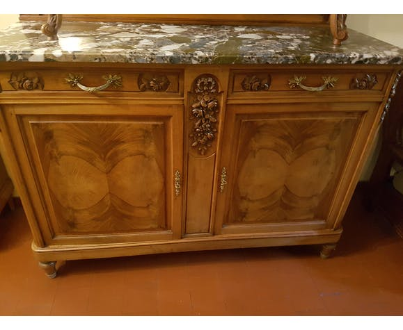 Buffet walnut and marble
