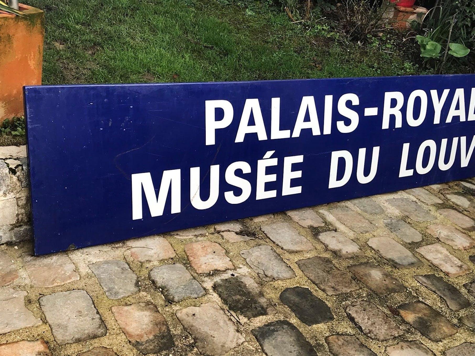 Plaque Metro Parisien Deco authentic old plaque aluminium enamelled paris metro | selency