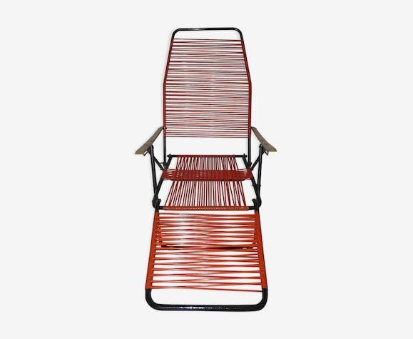Chaise longue scoubidou 1950