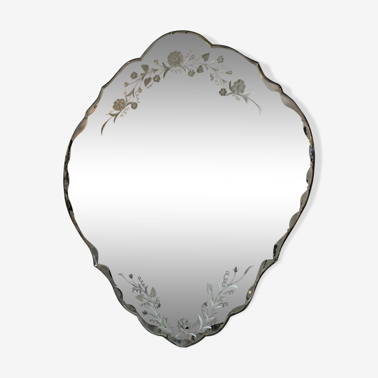 Miroir art déco 1930 64x54cm