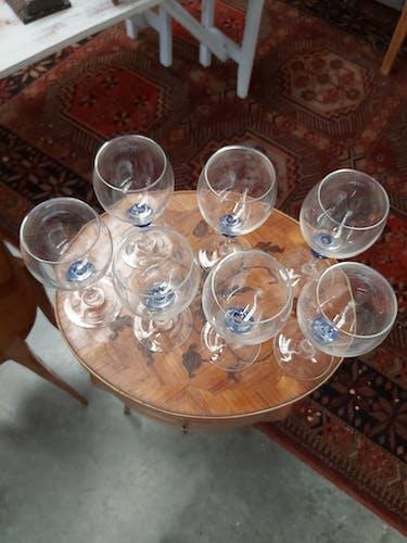 Suite de 7 verres