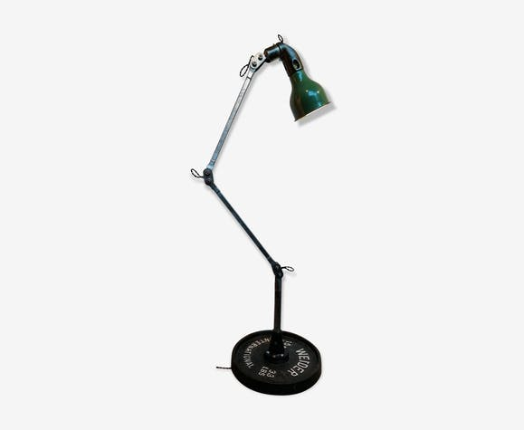 Vintage Mek Elek machinist lamp, 1930s