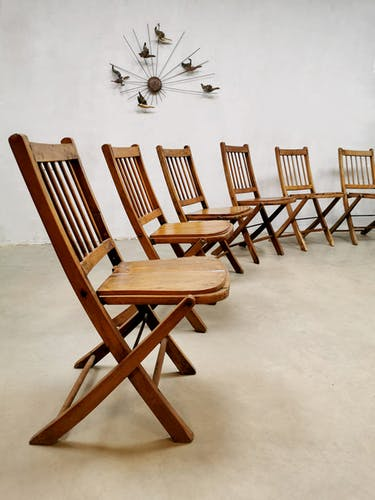 Ensemble de 6 chaises de jardin pliantes