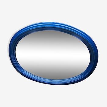 Miroir ovale pin bleu 50x67cm