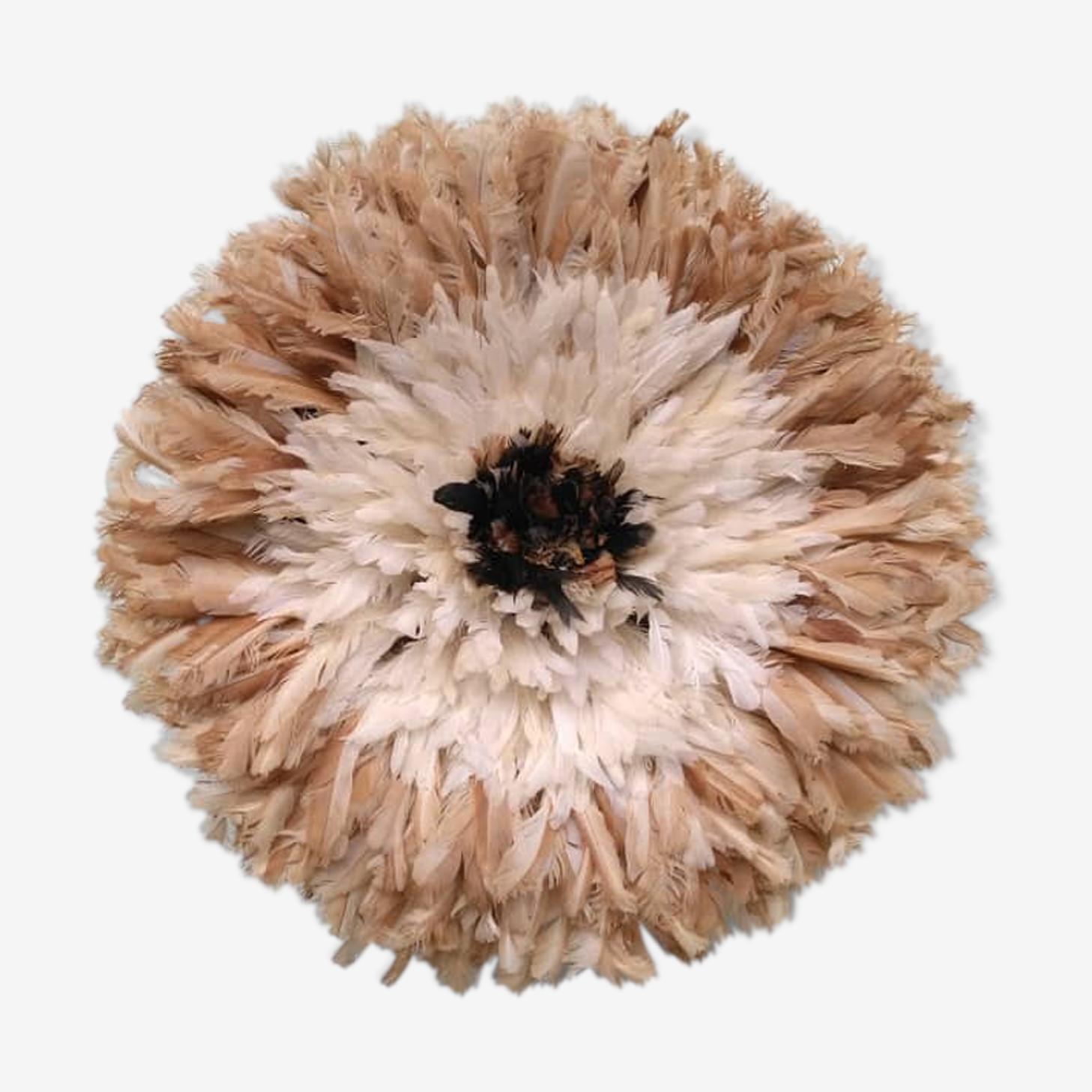 Juju hat intérieur naturel contour blanc puis beige de 55 cm