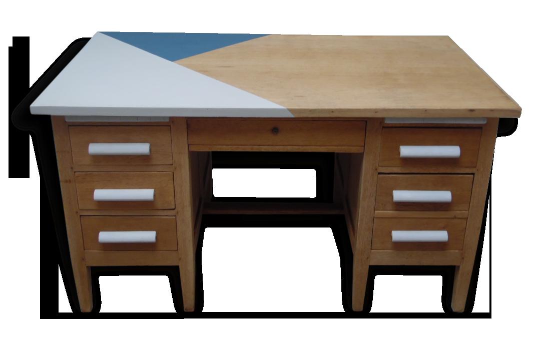 Ancien bureau de notaire en bois des années bois matériau