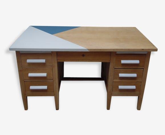 Ancien bureau de notaire en bois des années 40 bois matériau