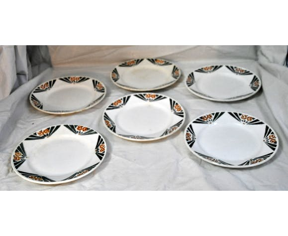 Pack of 6 old plates + 2 courses