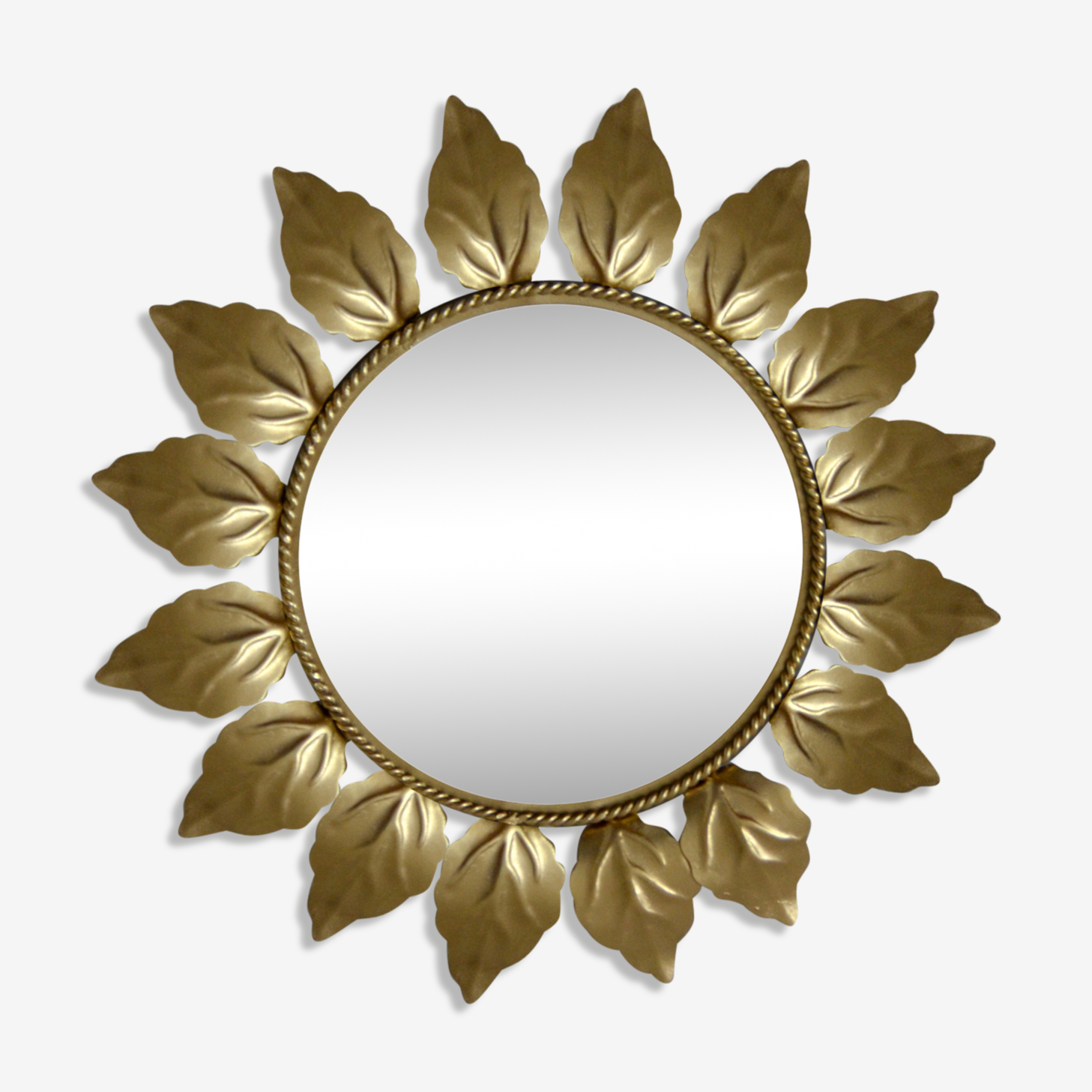 Sun gold metal mirror 42x42cm