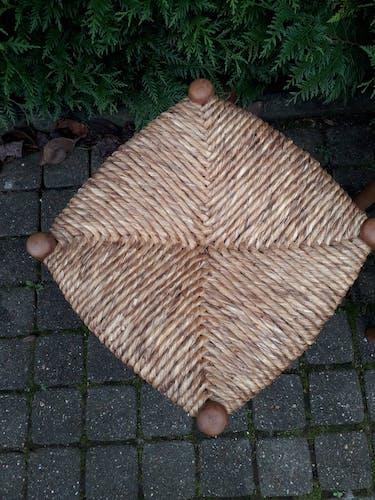 Pair of straw stools