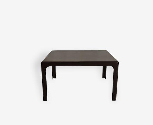 Table basse fibre de verre marron