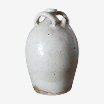 Enamelled sandstone potiche
