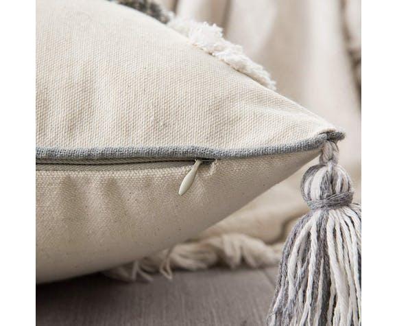 Coussin berbère gris et beige