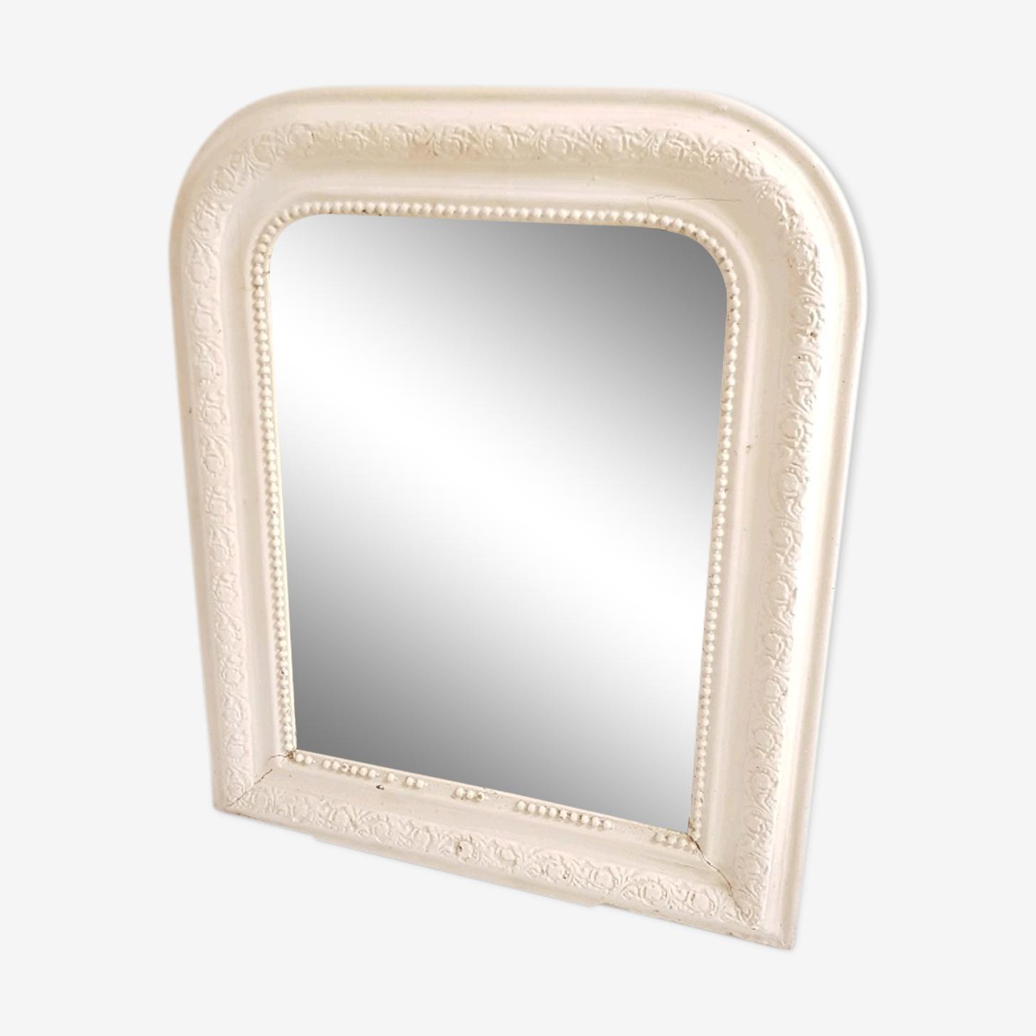 Mirror Louis Philippe white chalky 43x52cm