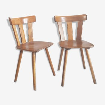 Pair of vintage brutalist chairs from the 1960s