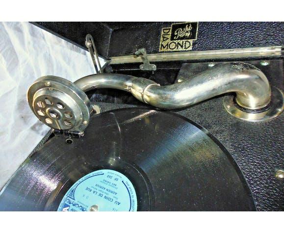 Valise Gramophone phonographe Pathé Diamond