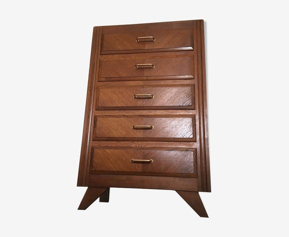 commode chiffonnier scandinave vintage 1950 r tro bois mat riau marron scandinave ciazrdz. Black Bedroom Furniture Sets. Home Design Ideas