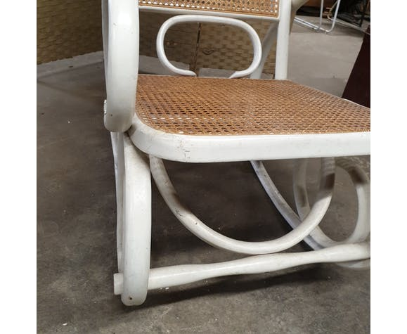 Rocking-chair ancien vintage  cannage